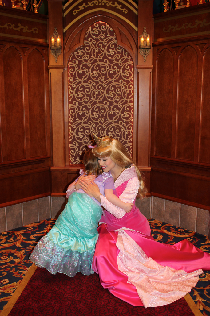 Disneylands fantasy faire a guide for moms dads princesses and a princess meet and greet the royal hall allows guests to queue up to meet three different princesses the hall will typically feature cinderella m4hsunfo