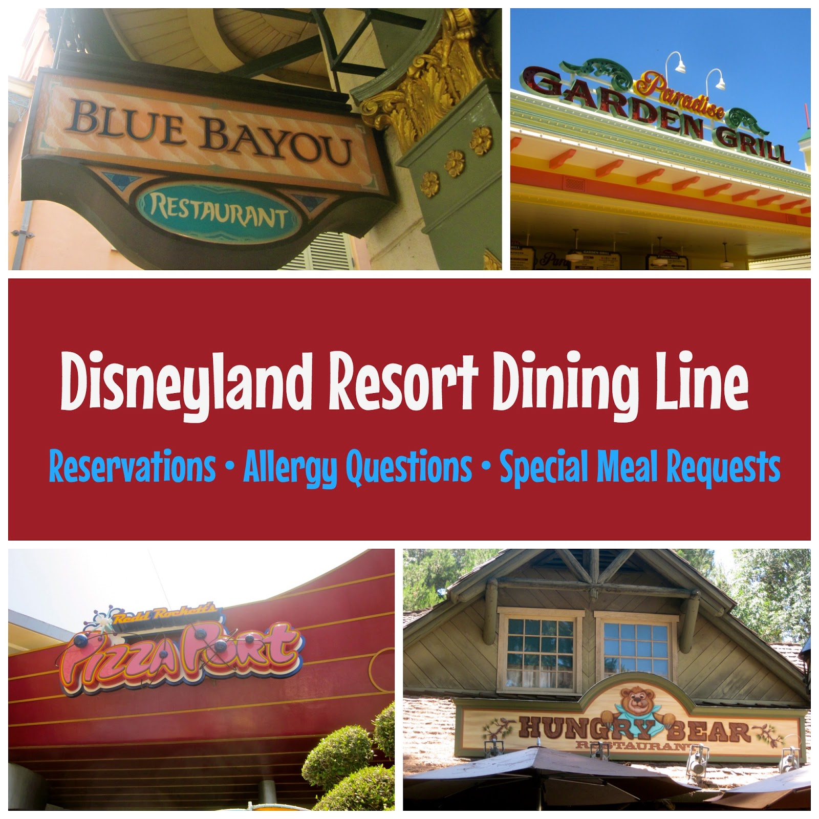 The Disneyland Resort Dining Line And No Show Reservation Fees Babes In Disneyland