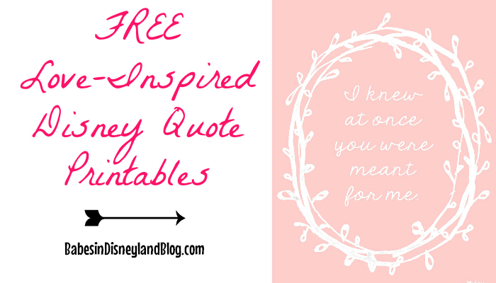 photograph regarding Free Quote Printable identify Enjoy Influenced Disney Video clip Estimate Printables - Absolutely free! - Babes