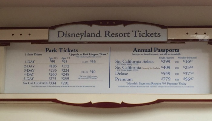 New 2015 Disneyland Ticket Prices And Important