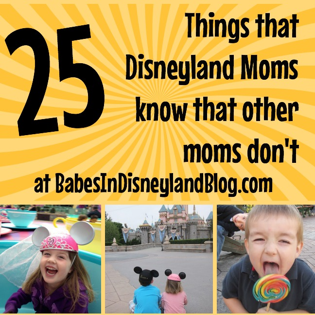 25 Things That Disneyland Moms Know That Other Moms Don T
