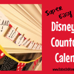 DIY Disneyland Countdown Calendar