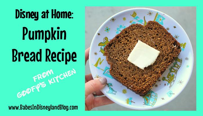Disney At Home Goofy S Kitchen Pumpkin Bread Recipe Babes In Disneyland